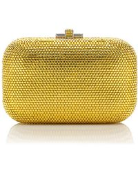 Judith Leiber Couture Crystal Slide-Lock Clutch Bag - Lyst