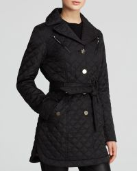 Laundry by Shelli Segal Coat - Single-Breasted Quilted Trench - Lyst