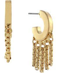 BCBGeneration Ringer Fringed Hoop Earrings - Lyst