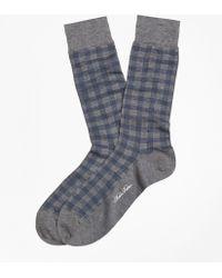 Brooks Brothers   Spiral Grid Crew Socks   Lyst