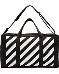 Off-White c/o Virgil Abloh - Black And White Canvas Duffle Bag - Lyst
