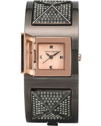 Vince Camuto - Women'S Crystal Pyramid Stud Two-Tone Stainless Steel Bracelet Watch 20Mm Vc-5153Rgtt - Lyst