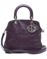 Dior Pre-Owned Purple Small Granville Tote Bag - Lyst
