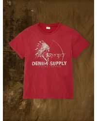 Denim & Supply Ralph Lauren Red Bow-and-arrow Tee - Lyst