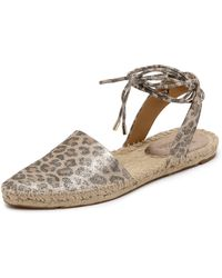 Belle By Sigerson Morrison Mai D'Orsay Espadrilles - Platino - Lyst