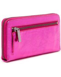 Trina Turk - Flamingo Zip Around Wallet - Lyst