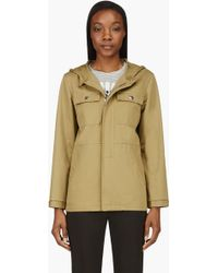A.P.C. Olive Twill Seaside Jacket - Lyst