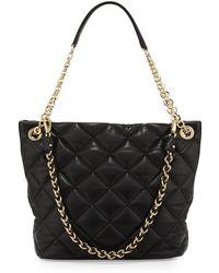 Ferragamo Malia Quilted Leather Shoulder Bag - Lyst