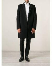 Calvin Klein - Classic Single Breasted Coat - Lyst