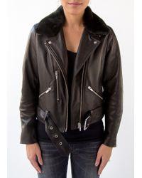 VEDA | National Leather Jacket Black | Lyst