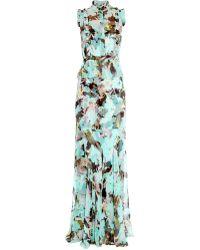 Erdem Roni Te Pari-Print Silk-Voile Gown - Lyst