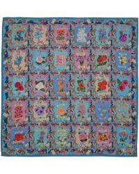 Liberty - Blue Sentiment Of Flowers Silk Scarf - Lyst