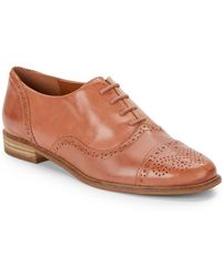 Enzo Angiolini Cristin Leather Oxford Shoes - Lyst