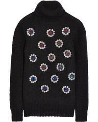 Matthew Williamson Pailletteembellished Mohairblend Sweater - Lyst