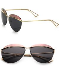 Dior Colorblocked 62Mm Round Sunglasses gold - Lyst
