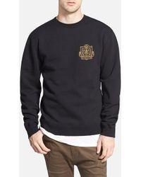 Obey 'Academy' Fleece Crewneck Sweatshirt - Lyst