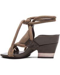 3.1 Phillip Lim Marquise Mid Heel Calfskin Leather Sandals - Lyst