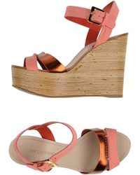 Sergio Rossi Sandals pink - Lyst