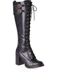 Report Signature Black Astrid Tall Lug Boots - Lyst