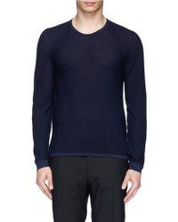 Armani Crew Neck Cotton Sweater - Lyst