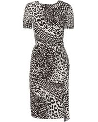 Jaeger Animal Print Dress - Lyst
