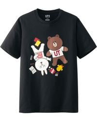 Uniqlo Men Line Friends Graphic Short Sleeve T Shirt - Lyst