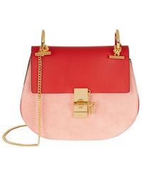 Chloé | Small Drew Leather And Suede Shoulder Bag | Lyst