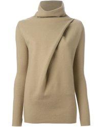 Ann Demeulemeester Blanche | Turtle Neck Wrap Sweater | Lyst