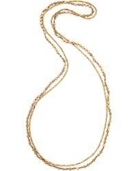 Serefina - Circle Duo Necklace - Gold - Lyst