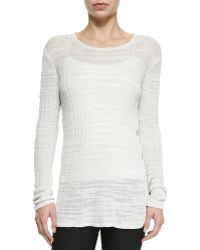 Helmut Lang Lightweight Knit See-Through Sweater - Lyst