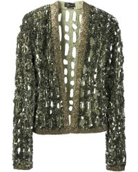 Isabel Marant Sequin Embroidered Jacket - Lyst