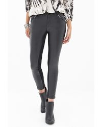 Forever 21 Faux Leather Moto Pants - Lyst