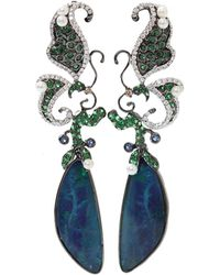 Wendy Yue | Boulder Opal And Pearl Earrings | Lyst