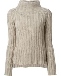 Ermanno Scervino Ribbed Knit Sweater - Lyst