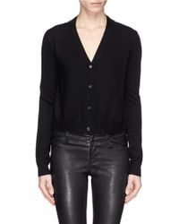 McQ by Alexander McQueen 'Festival Floral' Sheer Back Cropped Cardigan - Lyst