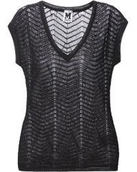 M Missoni Textured Crochet Sheer Blouse - Lyst