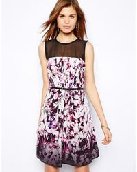 Coast Sonya Dress with Floral Graphic Print - Lyst