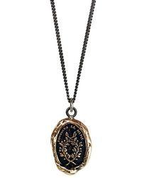 Pyrrha - 'integrity' Talisman Pendant Necklace - Bronze - Lyst