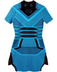 Alexander Wang Mesh Tee Dress - Lyst