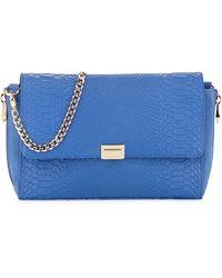 Pour La Victoire Morandi Snakeembossed Leather Clutch Bag - Lyst