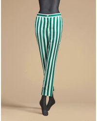 Dolce & Gabbana | Trousers In Printed Silk Twill | Lyst