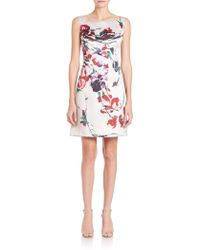 Kay Unger | Floral Ottoman Sheath Dress | Lyst