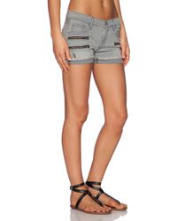 James Jeans Utility Zip Slouchy Short - Lyst