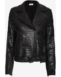 A.L.C. Blake Studded Leather Jacket  - Lyst
