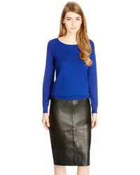 Oasis Pointelle Mixed Stitch Top - Lyst