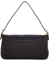 Fendi Crocquilted Baguette Bag - Lyst