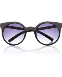 River Island Black Round Metal Trim Sunglasses - Lyst