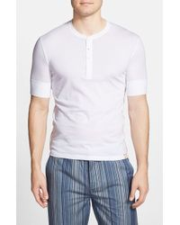 Paul Smith Short Sleeve Henley white - Lyst