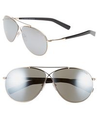 Tom Ford Women'S 'Eva' 61Mm Aviator Sunglasses - Rose Gold/ Grey Mirror Silver - Lyst