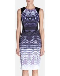 Karen Millen Ombre Lace Print Dress - Lyst